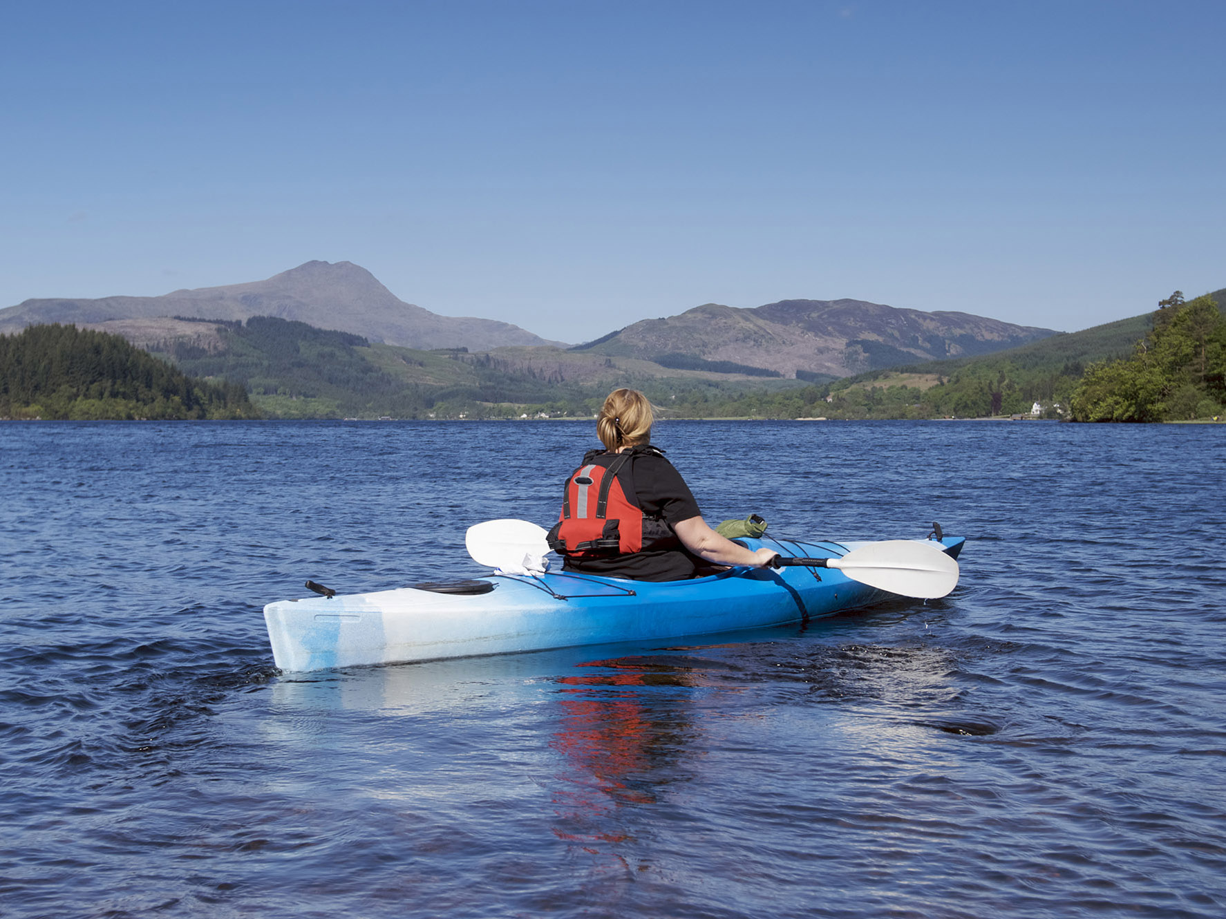 Kayaking in the Trossachs